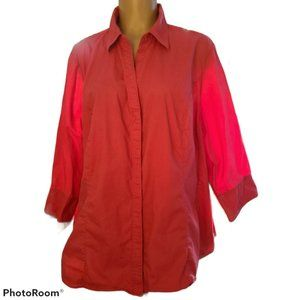 Riders Lee 2X Easy Care Button up Blouse